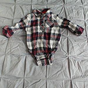 Flannel plaid onesie